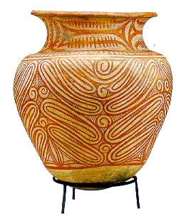 decorated pottery vase from Ban Chiang